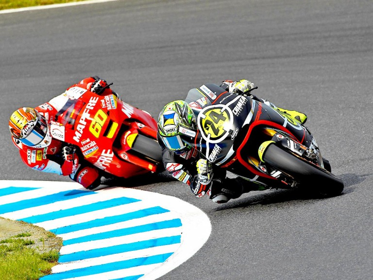 Elías riding ahead of Simón at Motegi