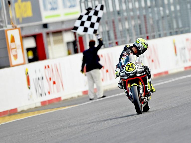 Toni Elías finishing the race at Motegi