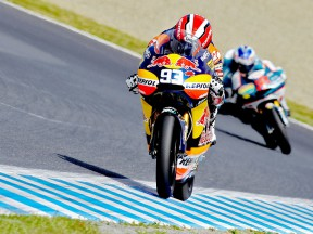 Mar Marquez in action at Motegi