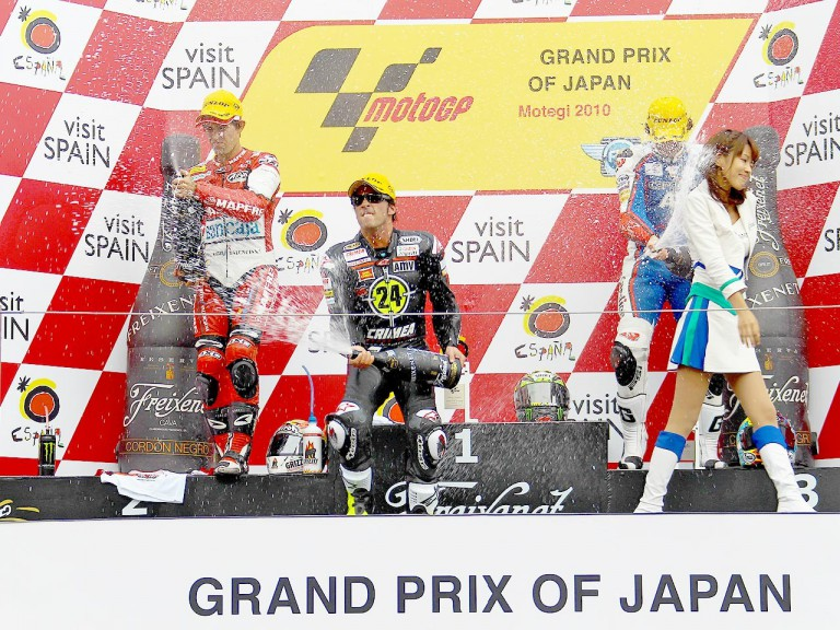 Simón, Elías and Abraham on the podium at Motegi