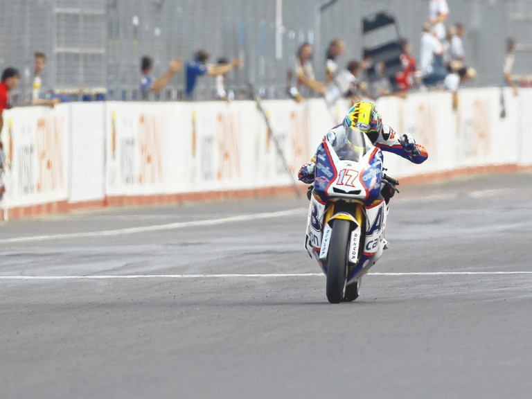 Karel Abraham finishing the race at Motegi