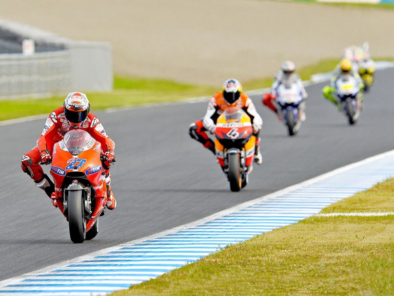 MotoGP action at Motegi