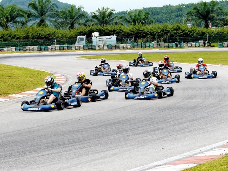 Kart race with MotoGP riders at Sepang