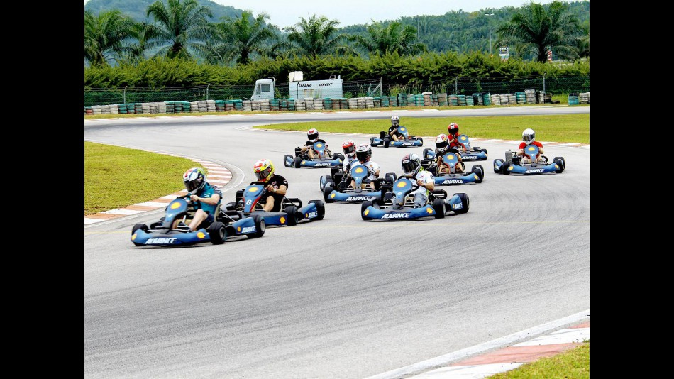 Kart race with MotoGP riders at Sepang