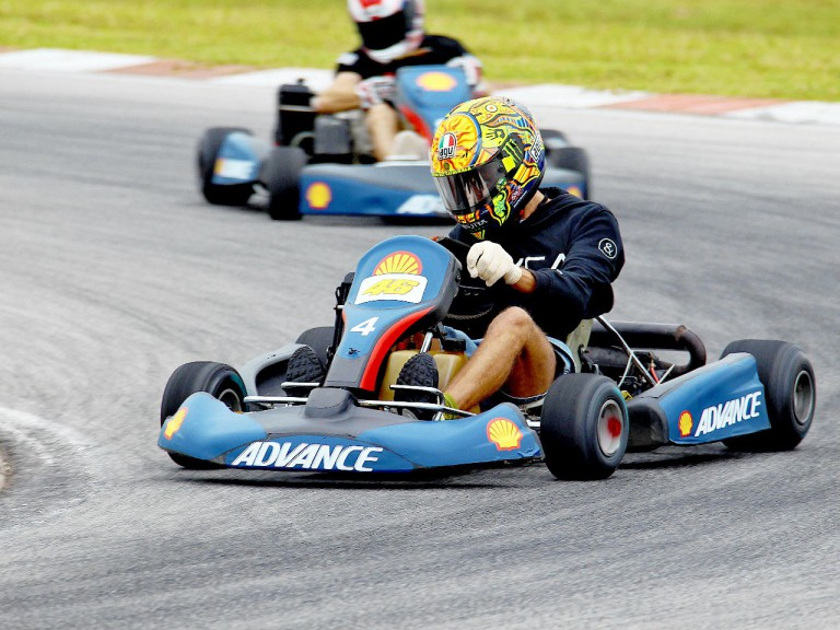 Valentino Rossi at the Kart race in Sepang