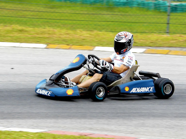 Marco Melandri at the Kart race in Sepang