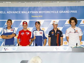 MotoGP riders at the Shell Advance Malaysian Motorcycle Grand Prix