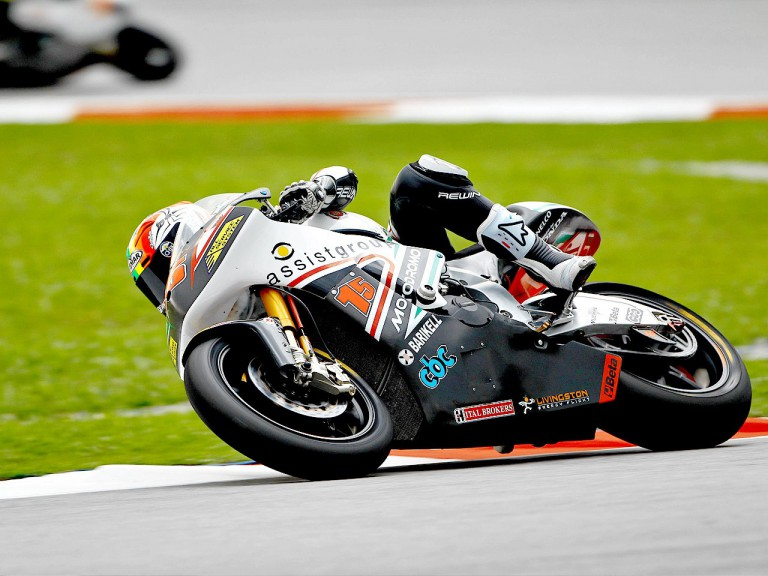 Alex de Angelis in action at Sepang