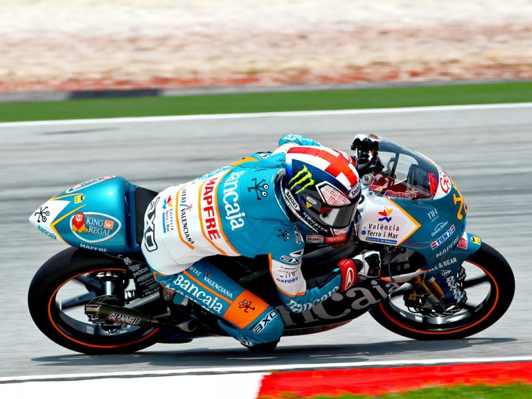 Bradley Smith in action at Sepang