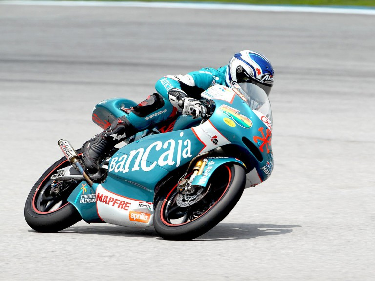 Nico Terol in action at Sepang