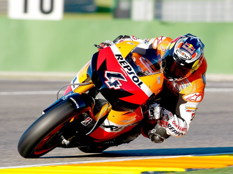 Andrea Dovizioso in action at Valencia test
