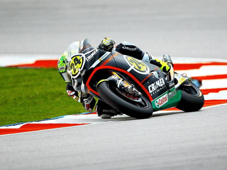 Toni Elías in action at Sepang