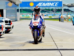 Jorge Lorenzo at Sepang Circuit after QP