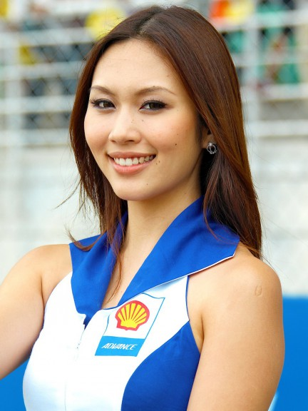 Paddock Girl at the Shell Advance Malaysian Motorcycle Grand Prix