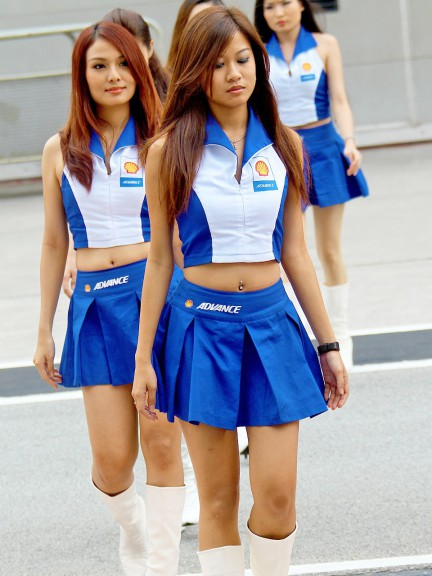 Paddock Girl at the Shell Advance Malaysian Motorcycle Grand Prix