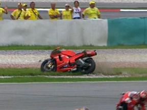 Sepang 2010 - MotoGP - Race - Casey Stoner - Crash