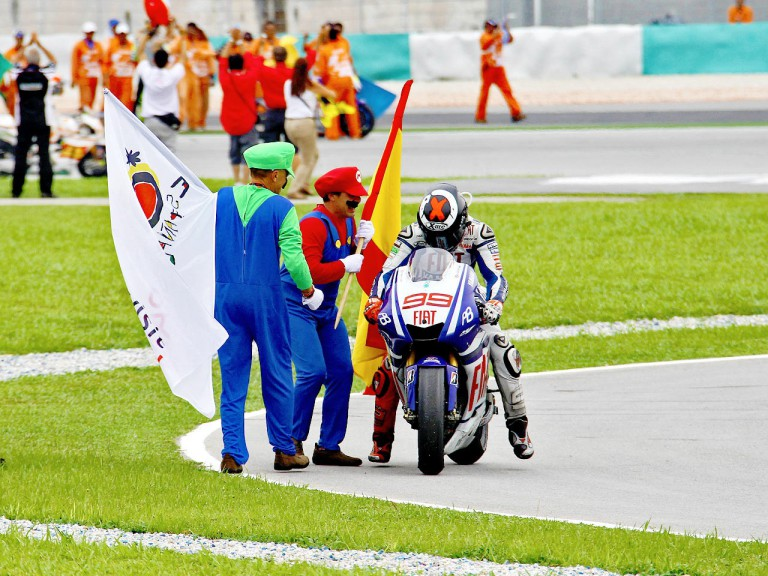 2010 MotoGP World Champion Jorge Lorenzo