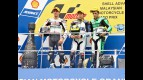 De Angelis, Rolfo and Iannone on the podium at Sepang