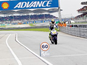 Valentino Rossi after the race at Sepang