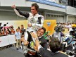 Cecchini and Elias celebrate 2010 Moto2 World Championship at Sepang