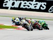 Thomas Luthi riding ahead of Moto2 group at Sepang