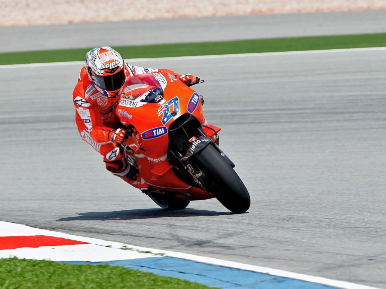 Casey Stoner in action at Sepang