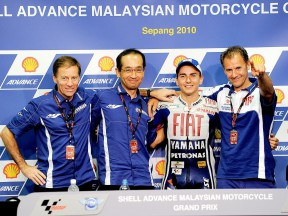 Yamaha press conference for Lorenzo´s 2010 MotoGP World Championship at Sepang