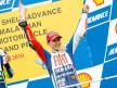 Jorge Lorenzo on the podium at Sepang