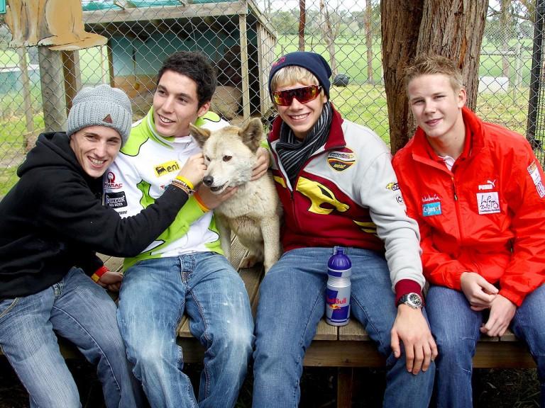 MotoGP riders visit Maru Wildlife Park