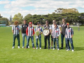 MotoGP riders meet top players of the Australian Football League