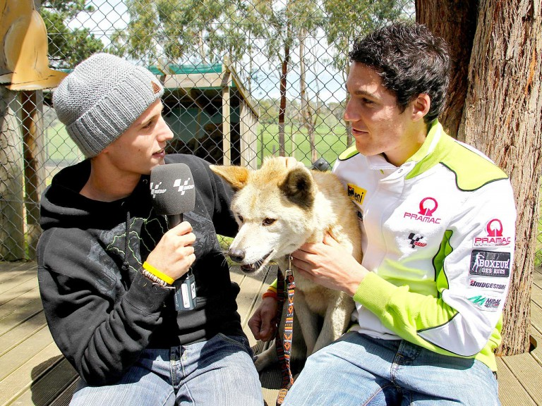 Pol and Aleix Espargaró at the Maru Wildlife Park