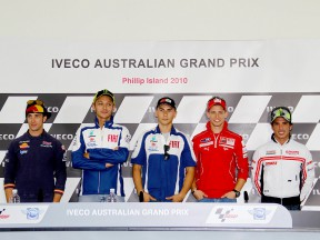 MotoGP riders at the Iveco Australian Grand Prix