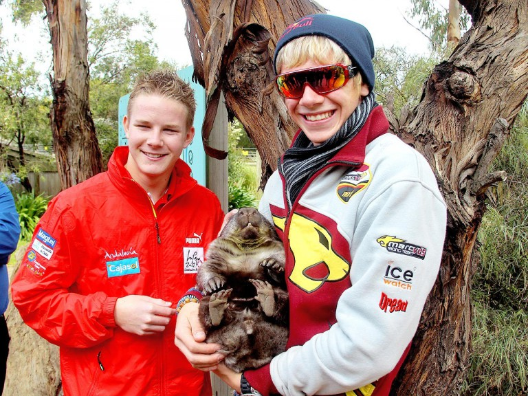 Danny Webb and Scott Redding at the Maru Wildlife Park