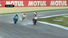 Der Weltmeister startete mit der schnellsten Zeit in das Wochenende zum Iveco Australian Grand Prix auf Phillip Island. Die Ducati Fahrer Casey Stoner und Nicky Hayden folgten dahinter.