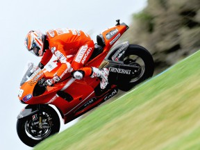 Nicky Hayden in action at Phillip Island
