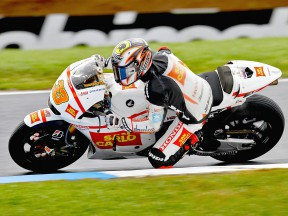 Marco Melandri in action at Phillip Island