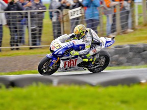 Valentino Rossi in actin at Phillip Island