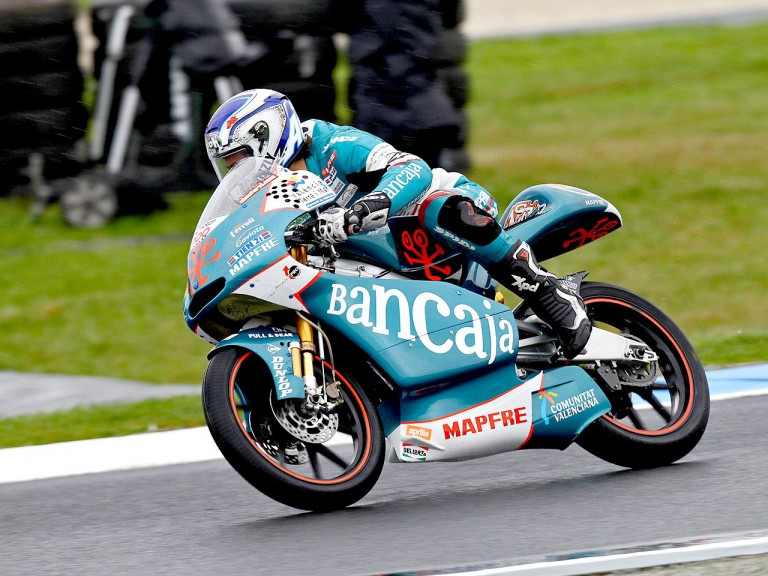 Nico Terol in action at Phillip Island
