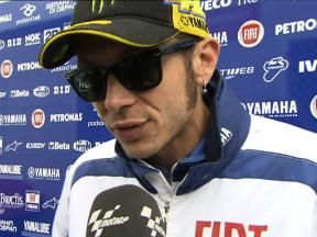 Rossi battles issues to qualify eighth