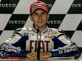 Phillip Island 2010 - MotoGP - QP - Interview - Jorge Lorenzo