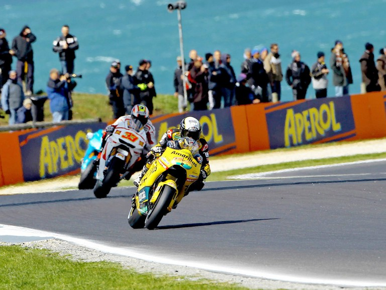 Héctor Barberá in action at Phillip Island