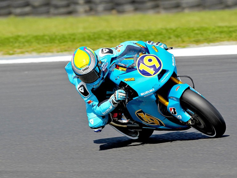 Alvaro Bautista in action at Phillip Island