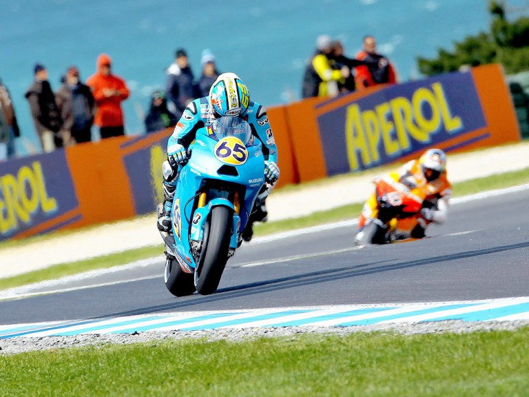 Loris Capirossi in action at Phillip Island