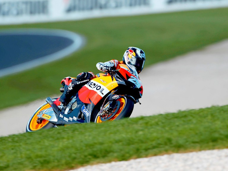 Dani Pedrosa in action at Phillip Island