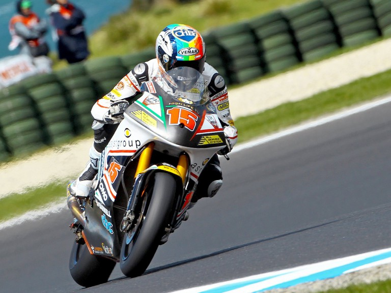 Alex de Angelis in action at Phillip Island