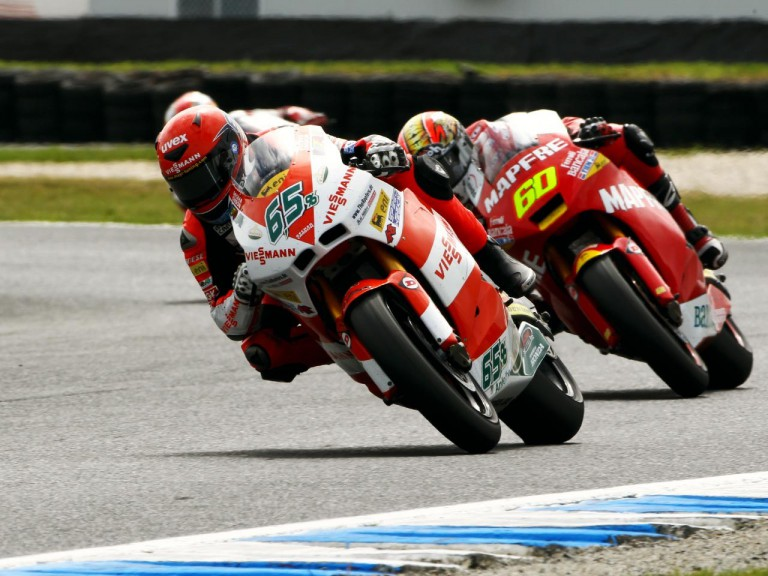 Bradl in action at Phillip Island