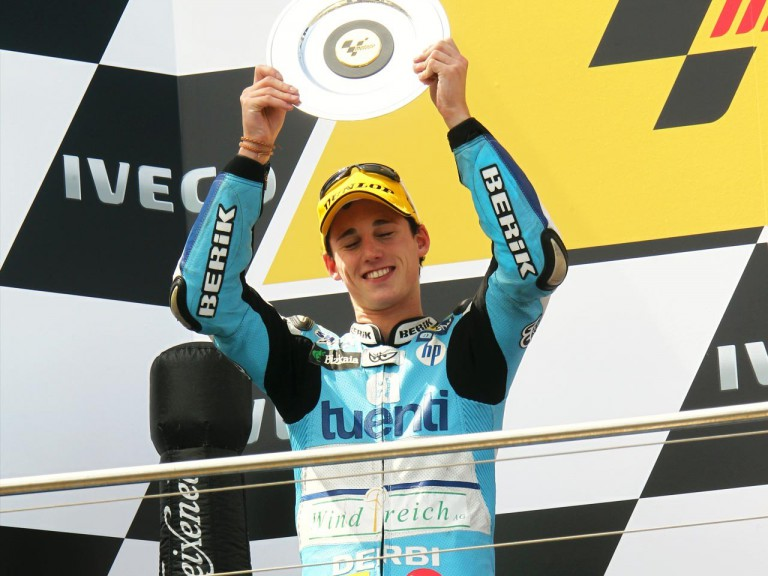 Espargaro on the podium at Phillip Island