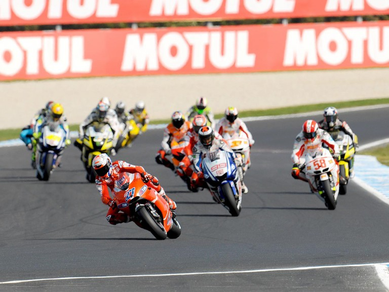 MotoGP group in action at Phillip Island