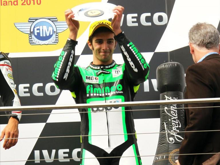 Iannone on the podium at Phillip Island