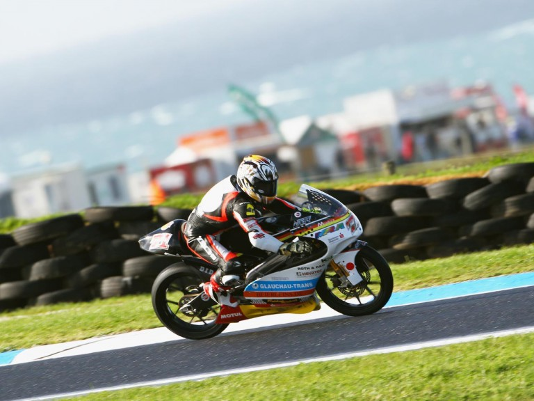 Koyama in action at Phillip Island